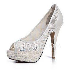 Wedding+Shoes+-+$85.99+-+Women's+Lace+Leatherette+Stiletto+Heel+Peep+Toe+Platform+Sandals+With+Rhinestone+(047020119)+http://jjshouse.com/Women-S-Lace-Leatherette-Stiletto-Heel-Peep-Toe-Platform-Sandals-With-Rhinestone-047020119-g20119