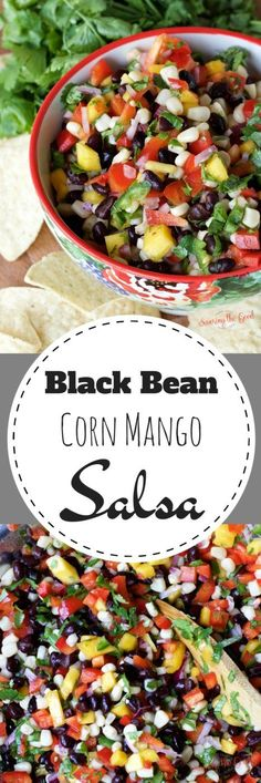 Here is an easy salsa recipe that can be made year round. The combination of canned black beans, canned corn kernels and the fresh mango will keep your chip reaching for another dip. Make ahead of time and store in the refrigerator for a healthy snack through out the day.