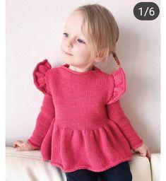 Baby Sweater Knitting Pattern, Baby Knitting Patterns, Knitting Designs, Baby Dress Patterns, Kids Outfits Girls, Baby Cardigan, Baby Kind, Knitting For Kids, Knit Fashion