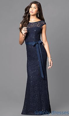Long Box Pleated Skirt Prom Dress with Pockets at PromGirl.com ...