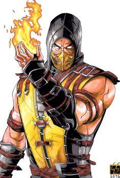 scorpion mortal kombat   Scorpion Mortal Kombat X (color) by GabRed-Hat on DeviantArt