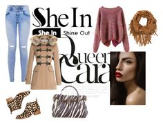 """""""SheIn"""" by adisa-hadzic4 ❤ liked on Polyvore featuring Burberry, Jeffrey Campbell, Kate Spade and shein"""