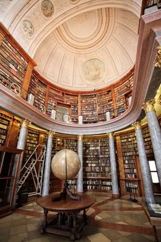 The Library of Pannonhalma Archabbey in Pannonhalma, Hungary