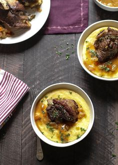 Braised Red Wine Short Ribs with Parmesan Polenta