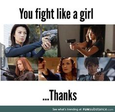 Not an insult like you thought it was. Melinda May, Daisy Johnson, Natasha Romanoff, Peggy Carter, and Maria Hill. All these awesome ladies Marvel Comics, Marvel Funny, Marvel Avengers, Marvel Heroes, Dc Memes, Funny Memes, Funniest Memes, Funny Gifs, Superwholock