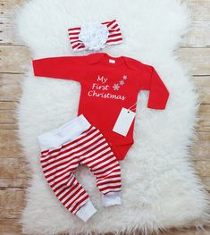 2fe36e296371 10 Best Baby s First Christmas Outfit images