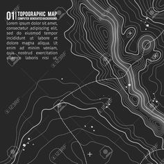 Topographic map background with space for copy . Line topography map contour background , geographic grid abstract vector illustration . Mountain hiking trail over terrain . Vintage Typography, Vintage Logos, Retro Logos, Map Design, Text Design, Vector Design, Space Map, Topography Map, Contour Line