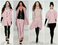 Runway fashion of rose color outfits