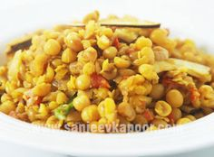 Yellow pea curry – Bengali style.