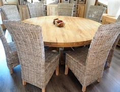Made with reclaimed teak wood and hand finished, our round two seater dining table set will add character to your home. They have beautifully shaped and carved legs to give elegance and character to your dining room or kitchen.  www.rustichouse.co.uk