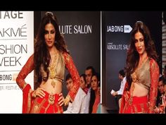 Chitrangada Singh's stunning ramp walk in lehenga choli at Lakme Fashion Week 2014.