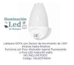 Lampara con sensor tipo gota - 60 watts