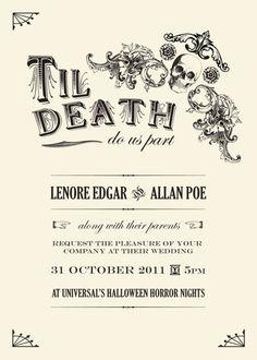 halloween themed wedding invite