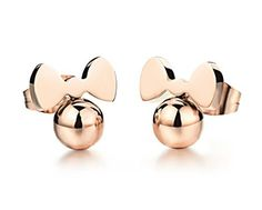 Disney Discovery- Minnie Mouse Rose Gold Earrings
