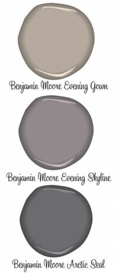 PAINT :: Benjamin Moore Evening Gown (greige), Evening Skyline &