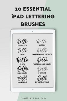 iPad Lettering brushes for the These 10 brushes are my favorites! The Effective Pictures We Offer You About App Design button A quality picture can tell you many things. You can find the Doodle Lettering, Brush Lettering, Hand Lettering Tutorial, Bullet Journal, Ipad Art, Photoshop, Ipad Pro Tips, Adventure Travel, 3d Printing