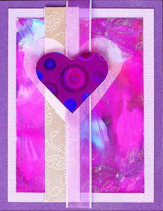 Greeting Card - Purple Valentine