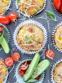 A super easy one bowl savoury muffins recipe made with zucchini, carrot, corn an. A super easy one bowl savoury muffins recipe made with zucchini, carrot, corn and cheese. Lunch Box Recipes, Breakfast Recipes, Lunch Ideas, Baking Recipes, Whole Food Recipes, Fussy Eaters, Picky Eaters, Little Lunch, Savory Muffins