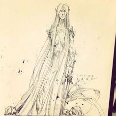 f l a p t r a p s s k e t c h b o o k . . Lady n lake ? #dailysketch #instalove #drawing #concept #mermaids #illustration #ink #inkdrawing #comics #fantasy #excalibur Richard Anderson