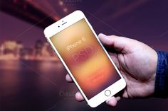 iPhone 6 Photorealistic In Hand by VItaly Rubtsov on @creativemarket