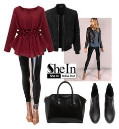"""""""SheIn"""" by cute-618 ❤ liked on Polyvore featuring LE3NO and Givenchy"""