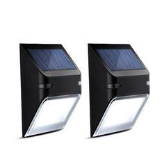 Luci Solari Impermeabili Mpow Luci da Parete Lampada Wireless ad Energia Solare da Esterno con 5 Lampadine LED con Sensore di Movimento, per Parete / Giardino / Cortile / Scale / Muro, Giorno Auto Spento/Notte Auto Acceso - (Non Dim Light Mode) - 2 Pezzi