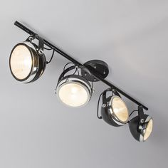 Ceiling Lamp Biker 4 Black