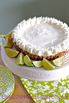 If you like key lime pie you are going to love this no bake key lime pie, gluten free. So much easier!