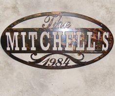 Metal Sign Wall Decor Mesmerizing Rustic Family Sign  Family Name Sign  Metal Sign  Metal Wall 2018