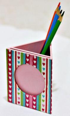 porta lapis de mdf com decoupage - Pesquisa Google