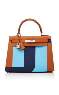Hermès 28cm Gold and Celeste Blue Epsom Leather Limited Edition Sellier  Kelly by HERMÈS VINTAGE BY 9fc175dc73f