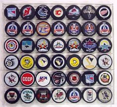 Our hockey puck displays and plaques will display your NHL pucks. This case makes a great gift