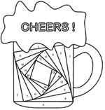 Cheers Iris Fold
