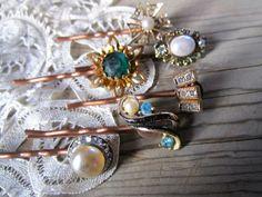 Boho Vintage Jewelry Bobby Pins
