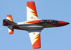 Patrulla Aguila Spanish Air Force flying 7 Casa C-101 Aviojets.