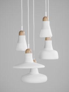 Brokis lights - White Shadows are hanging lights. The designer Lucie Koldova and Dan Yeffet.