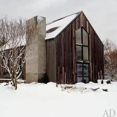 modern barn with tall window #contemporary #barn  #architecture