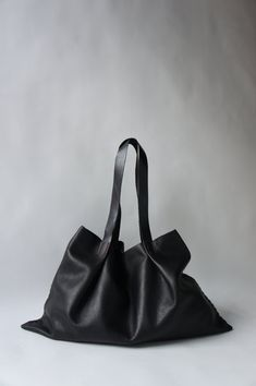 Odeon Bag Buttery soft black  Leather by stitchandtickle on Etsy, $270.00