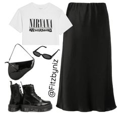 Discover outfit ideas for Trend: Rock A Concert Tee made with the shoplook outfit maker. How to wear ideas for Zarina skirt and Black Platform Doc Martens Kpop Fashion Outfits, Tomboy Fashion, Edgy Outfits, Swag Outfits, Cute Casual Outfits, Looks Black, Polyvore Outfits, Everyday Outfits, Aesthetic Clothes
