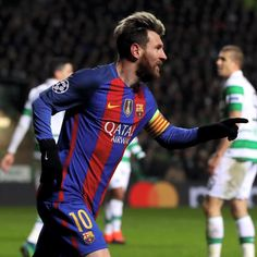 0aa7460d75e Lionel Messi of Barcelona celebrates scoring his sides first goal during the  UEFA Champions League Group C match between Celtic FC and FC Barcelona at  ...