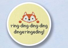 Ring Ding Ding Fox Cross Stitch Pattern PDF File by andwabisabi