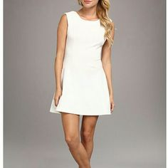 Free People Cha Cha Ivory Dress Adorable Free People Cha Cha Solid Ivory Dress. It's size medium 8-10. 74% Polyester, 20% Rayon, 4% Spandex. 32 inches long.  Zipper back closing. Super cute dress that is Super comfortable too! Free People Dresses Midi