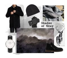 """""""Shades of Gray"""" by aclhandweaver ❤ liked on Polyvore featuring Silhouette, Cole Haan, Giuseppe Zanotti, John Varvatos, Daniel Wellington, Polo Ralph Lauren, men's fashion and menswear"""