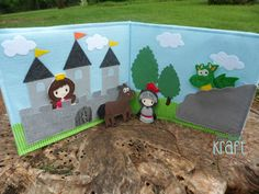 Knightly Adventures Puppet Book, knight puppet set, knight and dragon, pretend play, knight adventures, play knights
