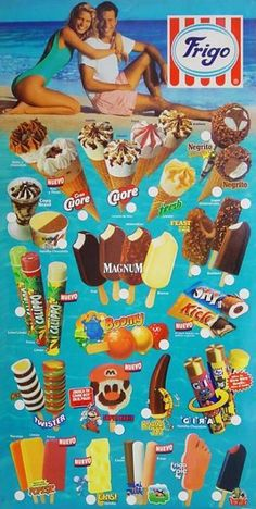 frigo, camy, avidesa, miko Early 90s Toys, Ice Cream Prices, Ice Cream Poster, One Step, Ice Pops, 90s Kids, Popsicles, Pop Tarts, Cookie Decorating