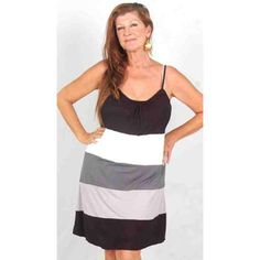 PRE-ORDER - Strappy Jersey Color Block Mini Dress (Black White Grey) $62.00 http://www.curvyclothing.com.au/index.php?route=product/product&path=95_97&product_id=9643