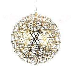 Product Code: LUP7028-610-Gold  This Replica Raimond Lamp, original design from Moooi sparkles with a variety of sizes and contains hundreds of LED lights. This lamp is fast becoming an iconic piece for contemporary interiors and looking great as a feature fitting and stunning when arranged in groups of different sizes and lengths. Original designed by Raimond Puts & realized by Ox-ID for one of our favourite design houses Moooi. Power supply included with 1.5m cable whic...