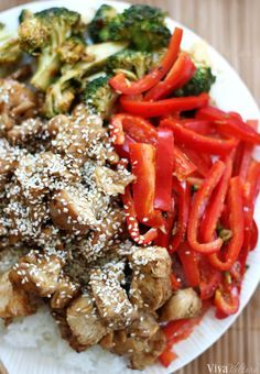 Skip the Chinese take-out and make this sesame chicken at home. It's better for you and the sauce is so flavorful. #Chinese