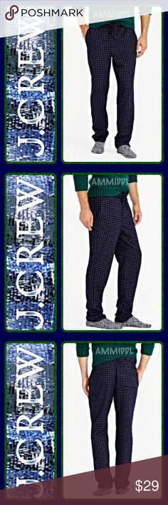 "🆕FLANNEL PAJAMA PANT IN NAVY GRID👖 Your go-to pant for hanging out, walking the dog or watching the game. Or, you know, for sleeping.   Details: 👖Color - Navy 👖Size - XL (fits waists 40-42) 👖Inseam - 31"" 👖Material - Cotton 👖Care - Machine wash J. Crew Pants"