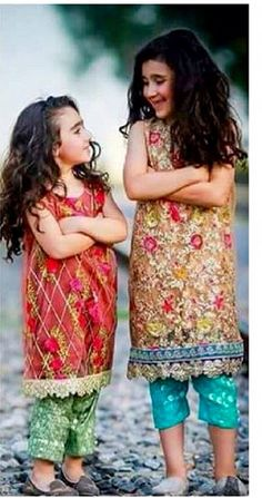 Pakistani outfits for kids.